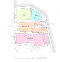 Planimetria piano seminterrato 476