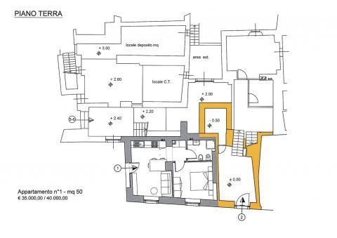 Piano terra planimetria