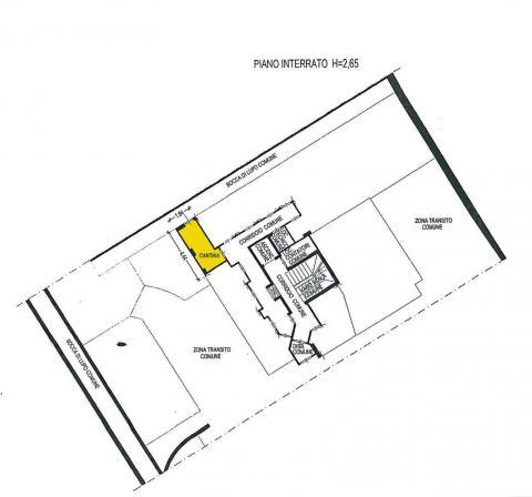 Planimetria piano interrato - cantina A69