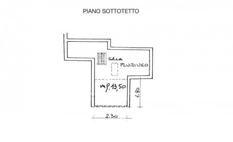 Planimetria SOTTOTETTO
