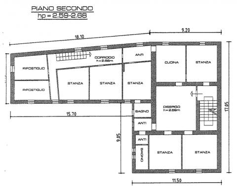 planimetria piano 2