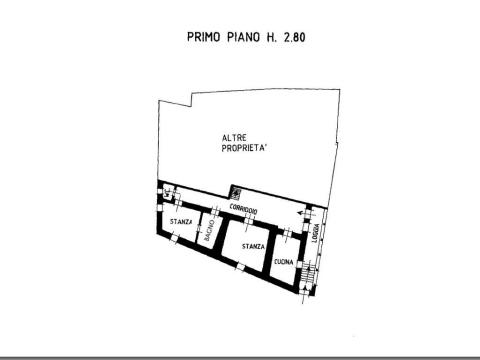 Planimetria piano primo 355