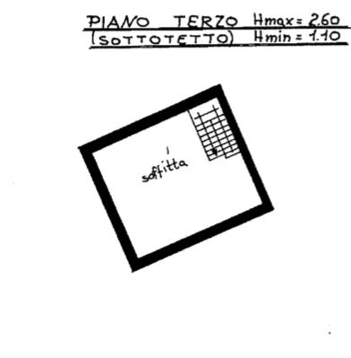 planimetria piano soffitta