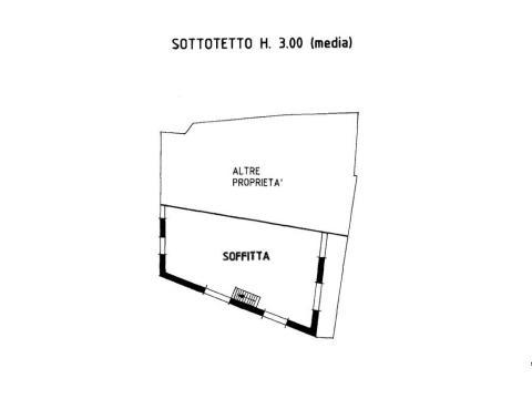 Planimetria piano soffitta 355