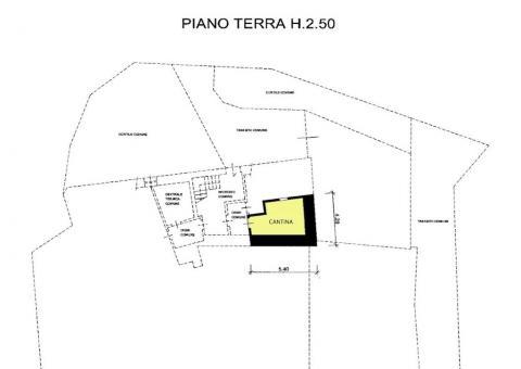 PLANIMETRIA PIANO TERRA - CANTINA