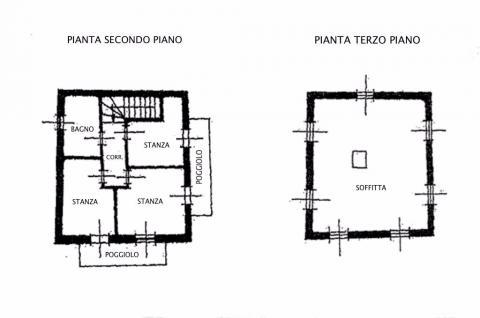 Planimetria secondo e terzo piano