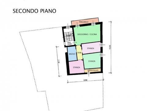 PLANIMETRIA SECONDO PIANO - APPARTAMENTO