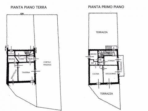 Planimetria terra e primo piano