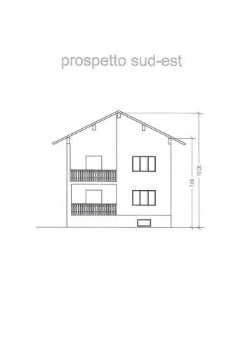 prospetto sud-est 427 planimetria